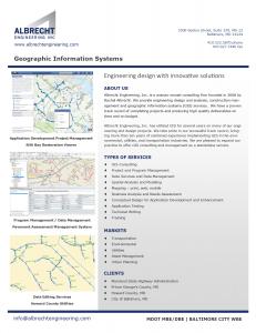 Brochure - GIS