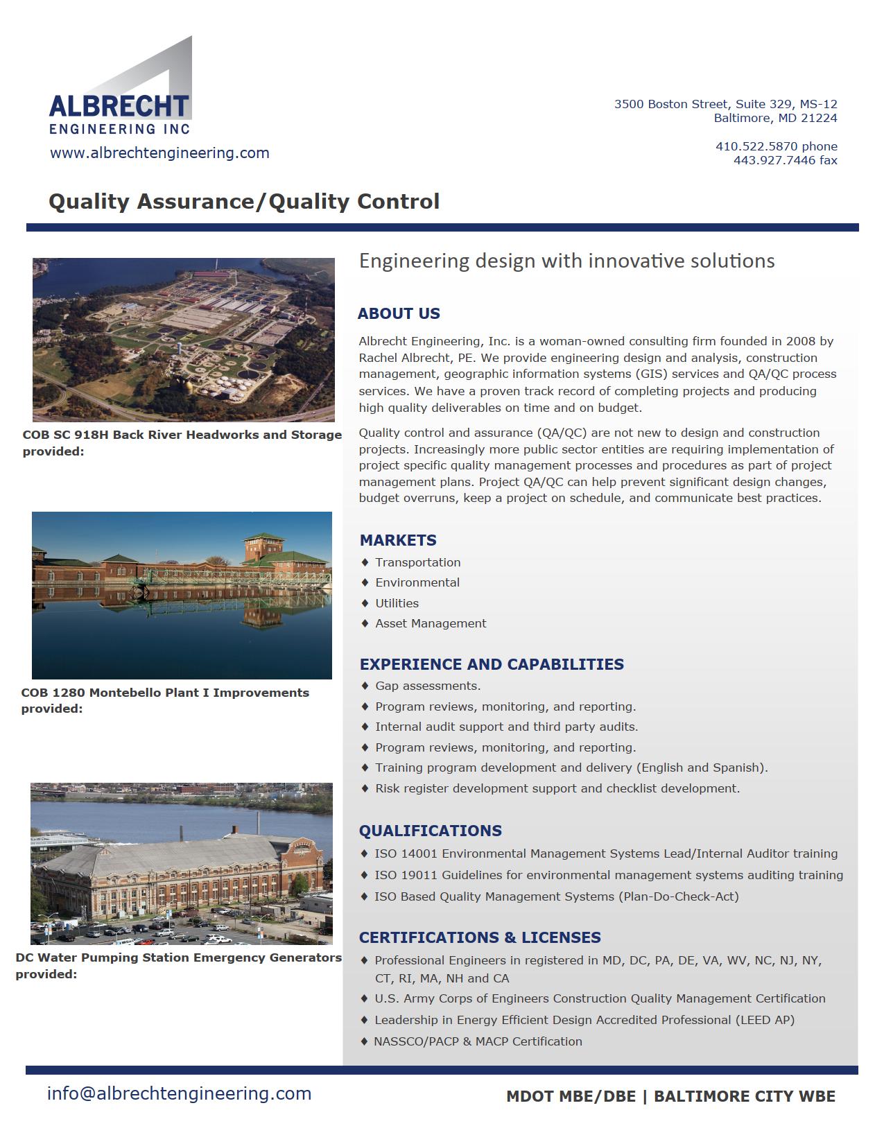 Brochure - QA/QC