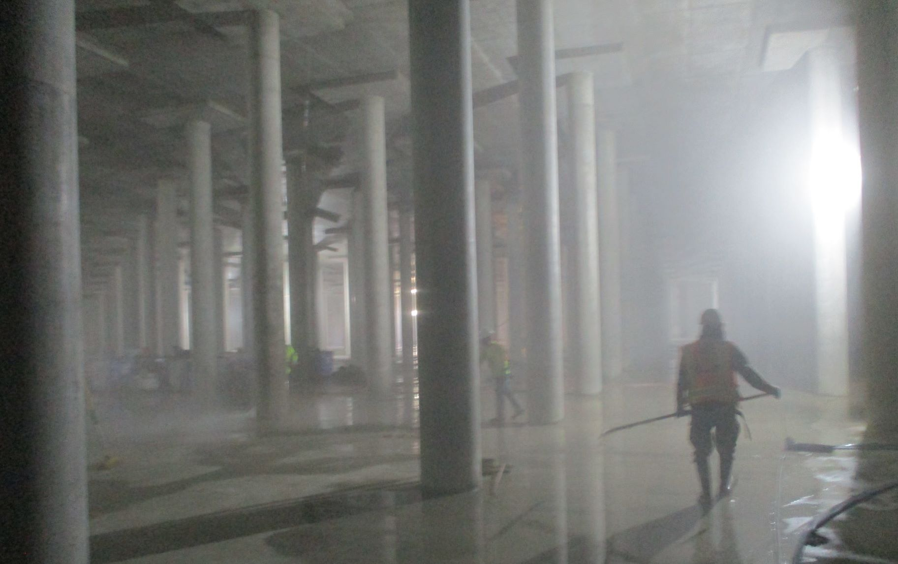 Columns in the midst of sterilization